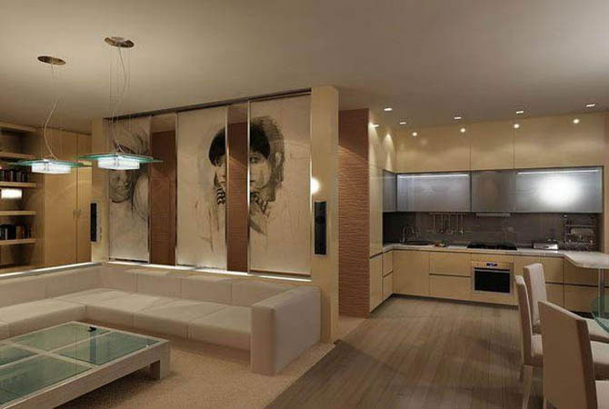 дизайн интерьер квартир кухни