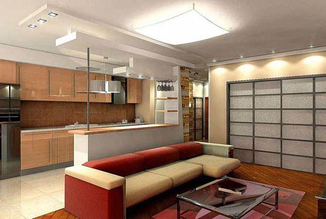 примеры дизайна однокомнатной квартиры
