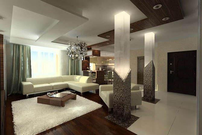 интерьер 1 комнатных квартир