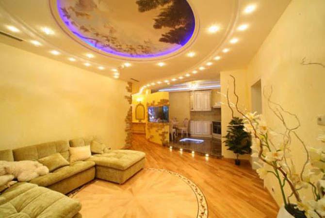 технология ремонта потолка квартиры