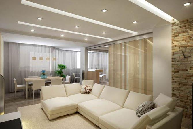дизайн интерьера однокомнатной квартиры примеры