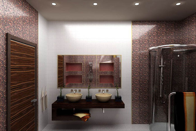 дизайн квартиры в оранжевых тонах