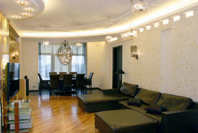 черно белый дизайн комнаты