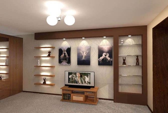 1 комнатная квартира дизайн проект