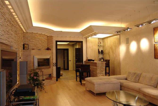 проекты интерьера двухкомнатных квартир