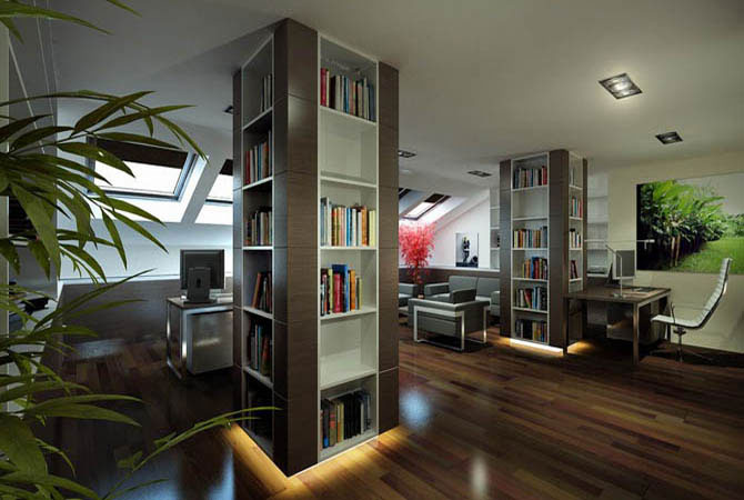 комната с эркером дизайн