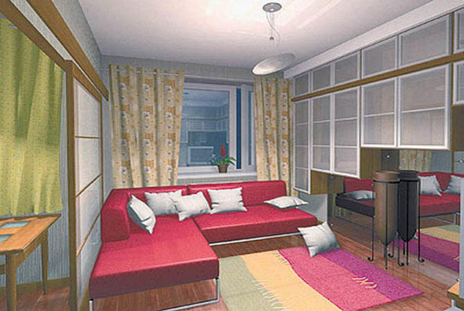проект перепланировки 2х комнатной хрущевки