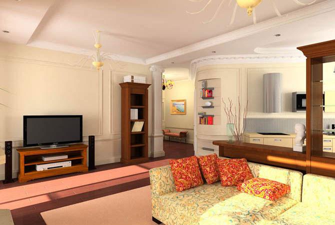 оформление интерьера однокомнатной квартиры