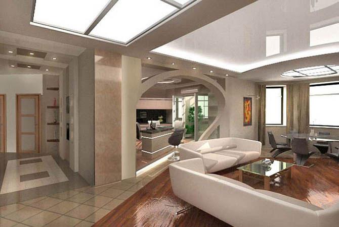 дизайн интерьер загородного дома
