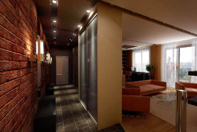пример дизайна однокомнатной квартиры
