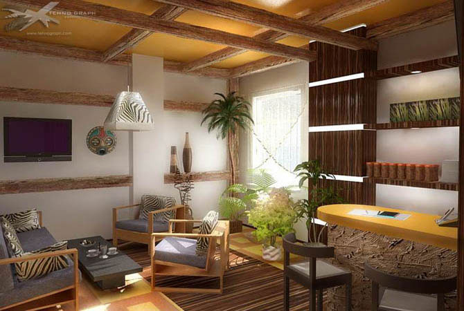 дизайн интерьера однокомнатных квартир
